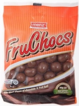 SA's favourite FruChocs - Yummy apricot and peach centres covered in milk chocolate.