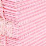 Внутренний книжный блок А5 формата (зебра: полоса розовая, полоса нежно-розовая) 80 гр
