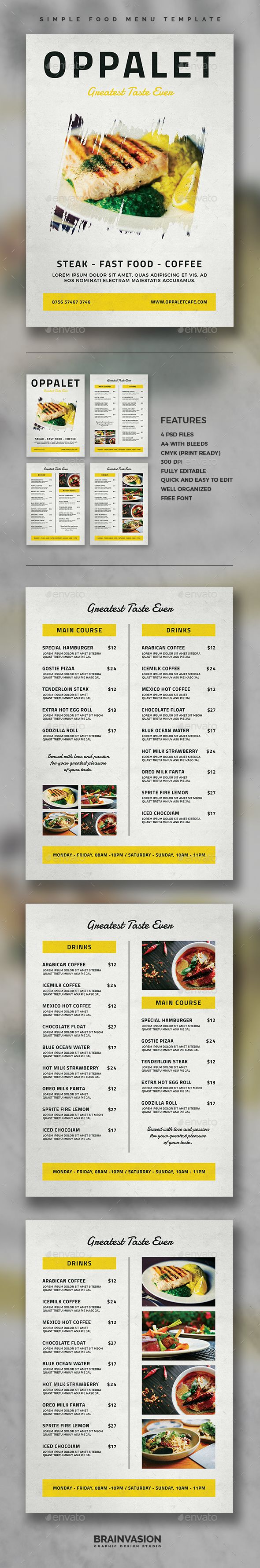 simple html menu template - 17 best ideas about menu templates on pinterest food