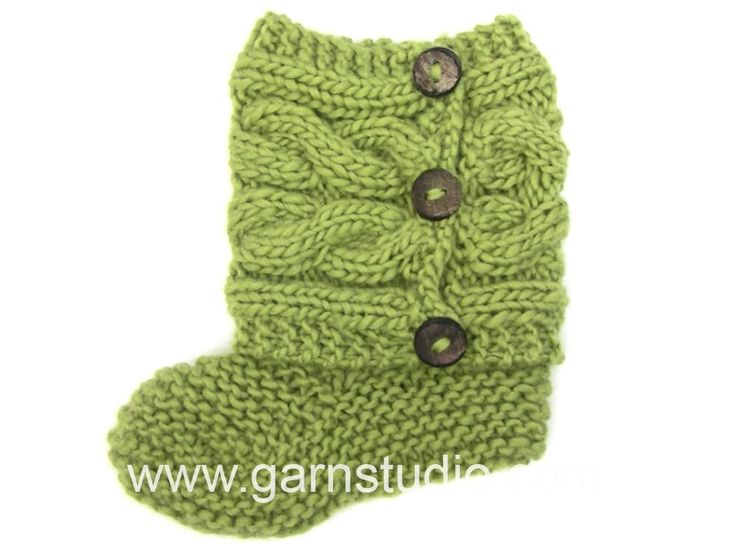 DROPS Knitting Tutorial: How to knit and sew up the slippers in Drops 150-4
