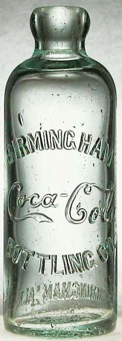 Coke bottle with original Coke script, Birmingham Coca-Cola Bottling Co.