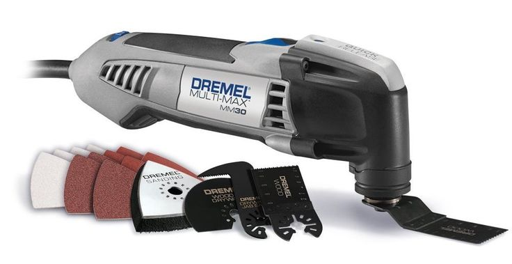 Top Tool Recommendations for DIYers - Dremel Multi-Max MM30 is an oscillating saw, which means that the blade vibrates back and forth at a very high speed. The small flat blade allows you to cut things that you just wouldn't be able to cut with any other tool. In addition to cutting, you can also use it for detail sanding. abt $100