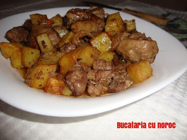 Ficatei de pui cu ceapa si cartofi - Bucataria cu noroc