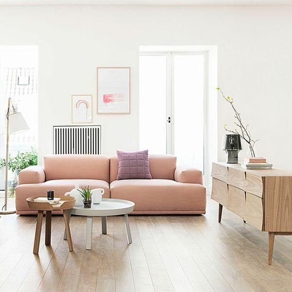 Wohnzimmer Modern Einrichten Couchtisch Rund Skandinavisches Design