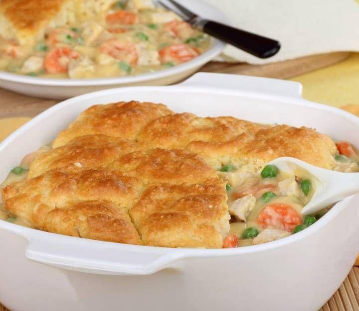 Biscuit Smothered Chicken Casserole