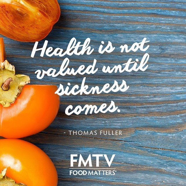 Do you value your health? Nourish your body with nutritious foods always and respect your body you have been given.  #FMTV #FMTVofficial #FoodMatters #QOTD