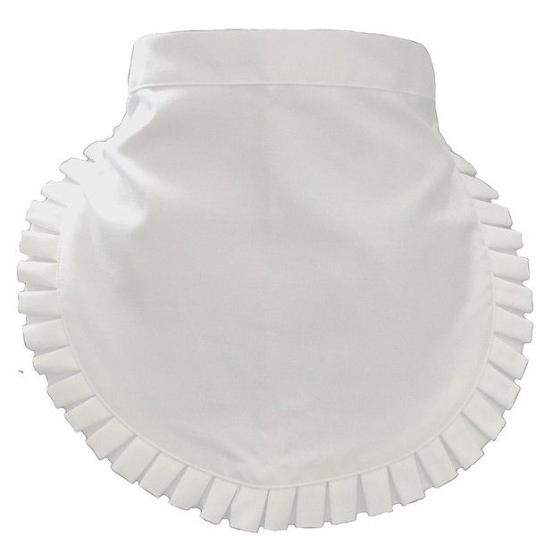 Traditional Housekeeping Maid or Waitress White Waist Apron ($4.99) ❤ liked on Polyvore featuring home, kitchen & dining, aprons, white waist apron, white half apron, white apron and linen apron