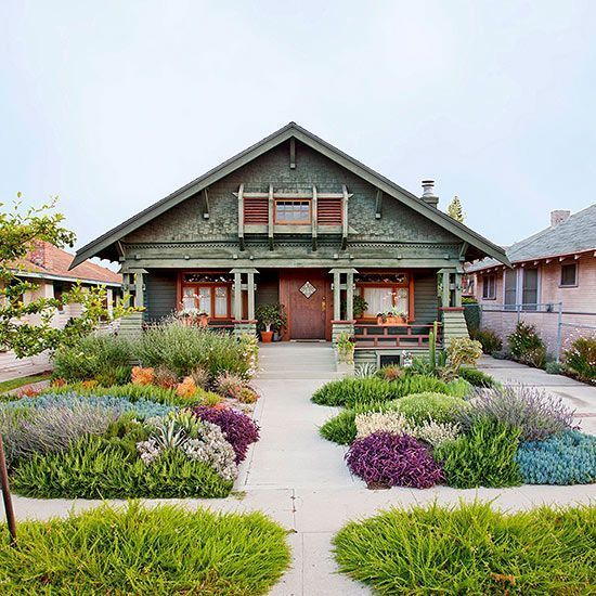447 best images about front yard designs on pinterest for Easy care front yard landscaping