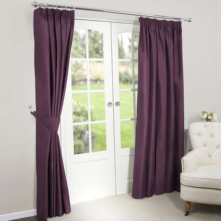 Purple blackout curtains. Dark, gorgeous and will add plenty of privacy.