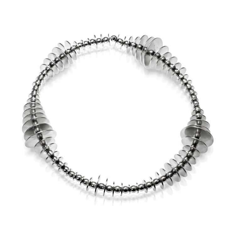 """Necklace -""""Mille pattes collection""""- 2009 - sterling silver by Julie Nicaisse Jewellery www.julienicaisse.com"""