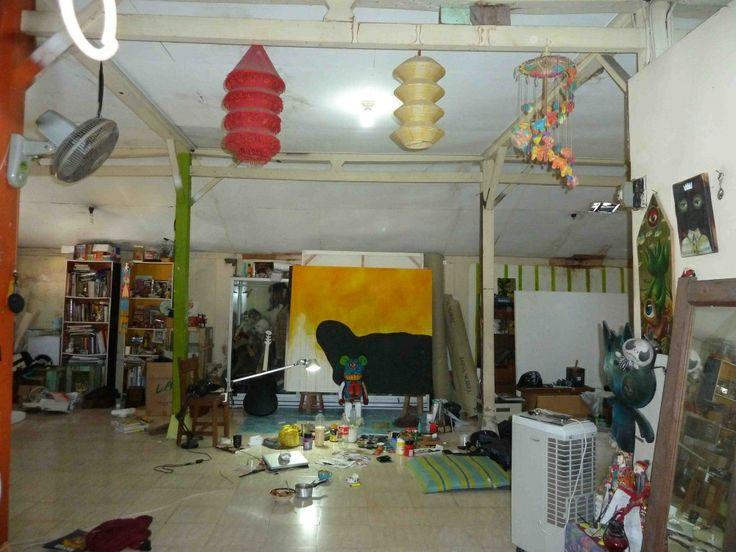 studio: atelier van een schilder, beeldhouwer, fotograaf.