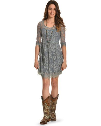 Young Essence Floral Lace Dress - Country Outfitter