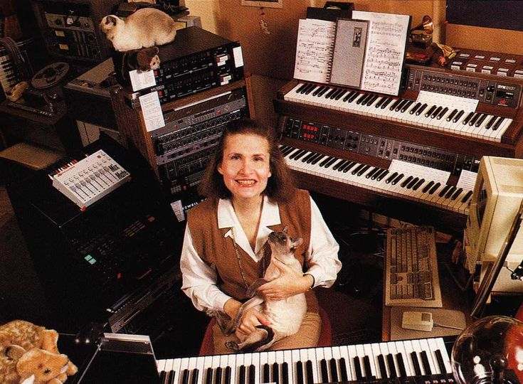 Wendy carlos in her home studio with her siamese cats for Siamese 9 electric motor