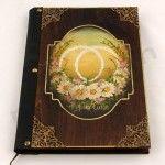 Χειροποίητα ξύλινα άλμπουμ και βιβλία ευχών! Vintage DIY υλικά και εργαλεία! | bombonieres.com.gr