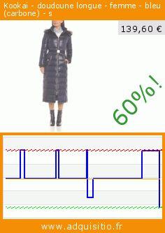 Kookai - doudoune longue - femme - bleu (carbone) - s (Vêtements). Réduction de 60%! Prix actuel 139,60 €, l'ancien prix était de 349,00 €. https://www.adquisitio.fr/kooka%C3%AF/doudoune-longue-femme-0