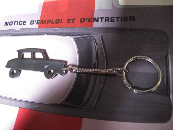 AMI6 Keyring Handcrafted in Titanium by philwarddesign.com.au Custom Citroen jewellery made to order