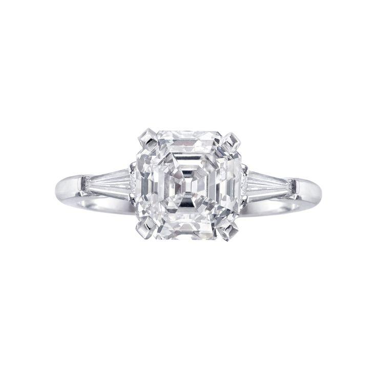 asscher diamond ring - Google Search