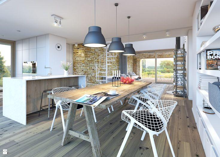 Jadalnia styl Skandynawski - zdjęcie od DOMY Z WIZJĄ - nowoczesne projekty domów…
