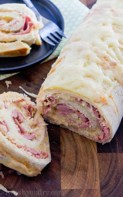 Reuben Pizza Roll IF YOU LOVE REUBENS THEN YOU HAVE TO MAKE THIS! IT IS EASY & DELISH! YUMMY!