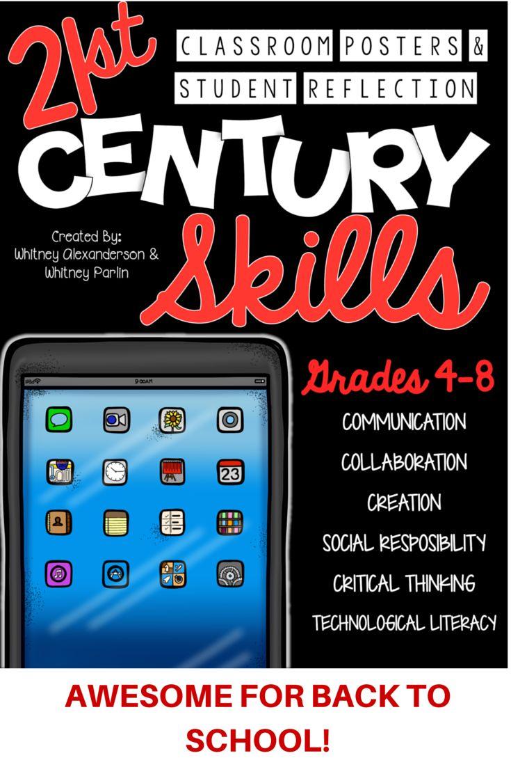 Elementary Classroom Setup Ideas ~ St century skills classroom posters student