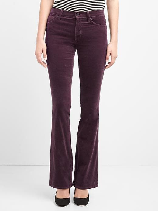 Mid rise perfect boot cords; Gap; $59.95