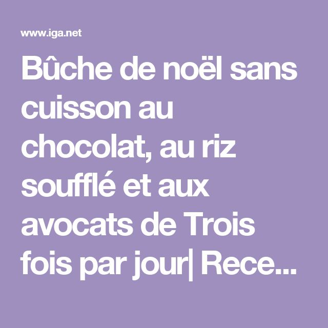 Gateau chocolat noir iga