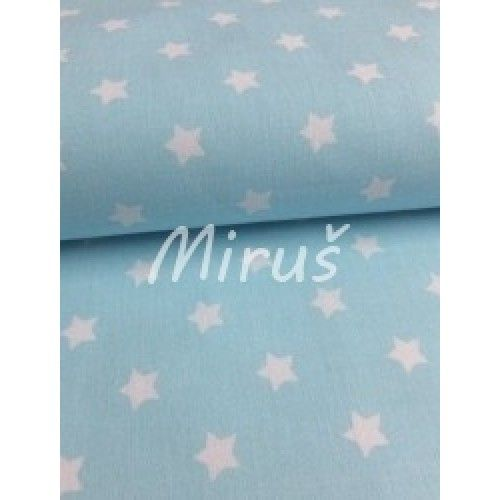 č.1450 Hvězdičky bílé na modré