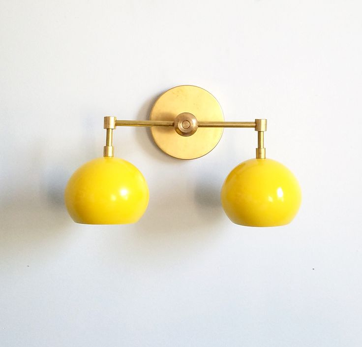 Double Loa Sconce with Sunshine Yellow Shades