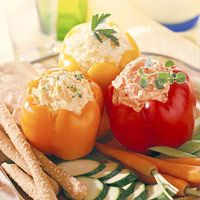 Kickoff Pepper Dip..   A sweet pepper puree, horseradish, and bottled hot pepper sauce blend with cream cheese and mayonnaise for a dynamite dip for veggies or breadsticks.