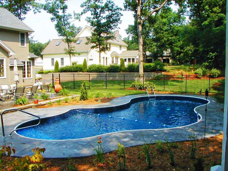 Backyard Designs With Inground Pools 1000 images about pool and deck ideas on pinterestoval above Inground Pool Designs For Sloped Yards Inground Pool Designs