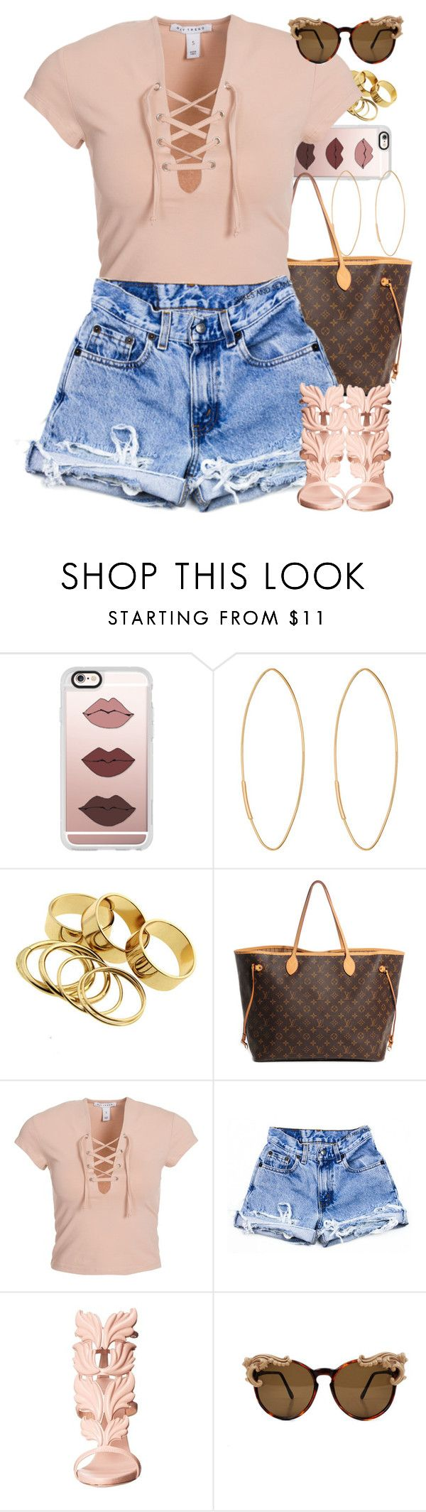 """Untitled #1560"" by power-beauty ❤ liked on Polyvore featuring Casetify, Lana, Louis Vuitton, NLY Trend and Giuseppe Zanotti"
