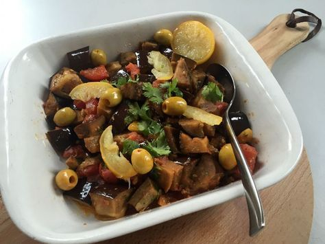 Recept van een frisse aubergine salade, een perfect zomers gerecht