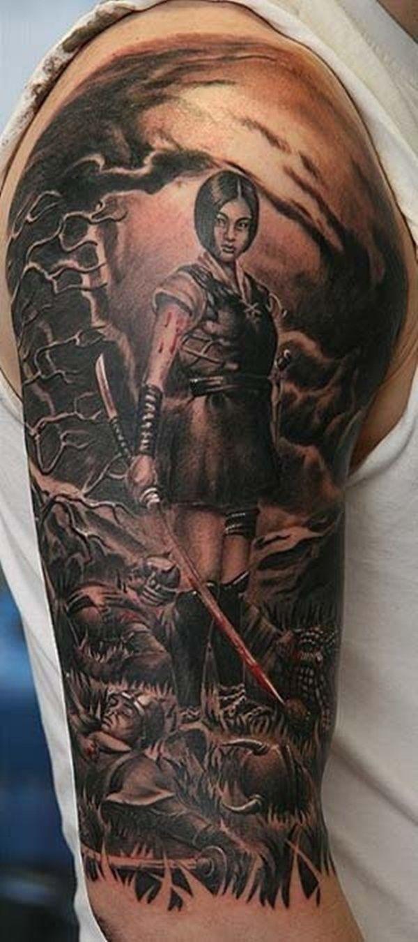25 best ideas about warrior tattoos on pinterest for Saxon warrior tattoos