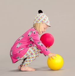 A Wild Zebra Shirt in Pink! Leggings and cap with fresh Pastel Polka Dots.
