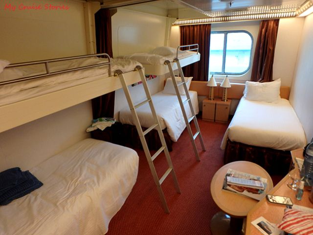 Carnival Magic Five Person Cruise Ship Cabin Cabin Semester At Sea Ocean View