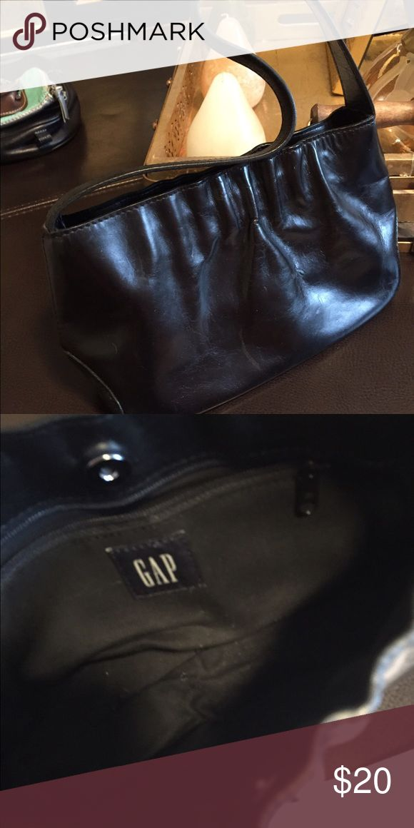 Gap Handbag Gap black Handbag with snap closure and one pocket zipper inside GAP Bags Shoulder Bags