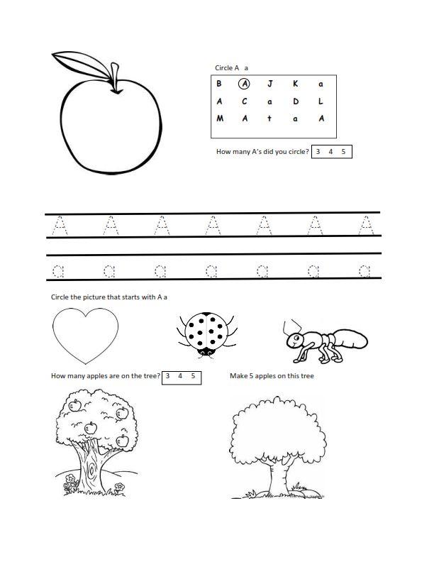 worksheets for 2 year olds free letter a worksheet download school pinterest more mom. Black Bedroom Furniture Sets. Home Design Ideas