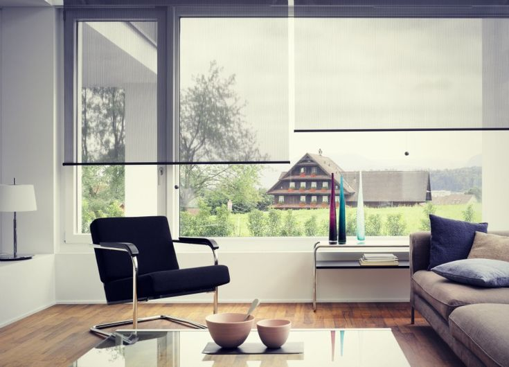 Great looking clean lines of contemporary roller blinds...Love this!