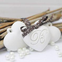 Gessetti profumati,bomboniera cuore di gesso personalizzato iniziale lettera segnaposto,matrimonio ,battesimo,comunione,cresima,laurea