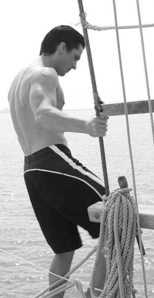 Christian Bale and sea