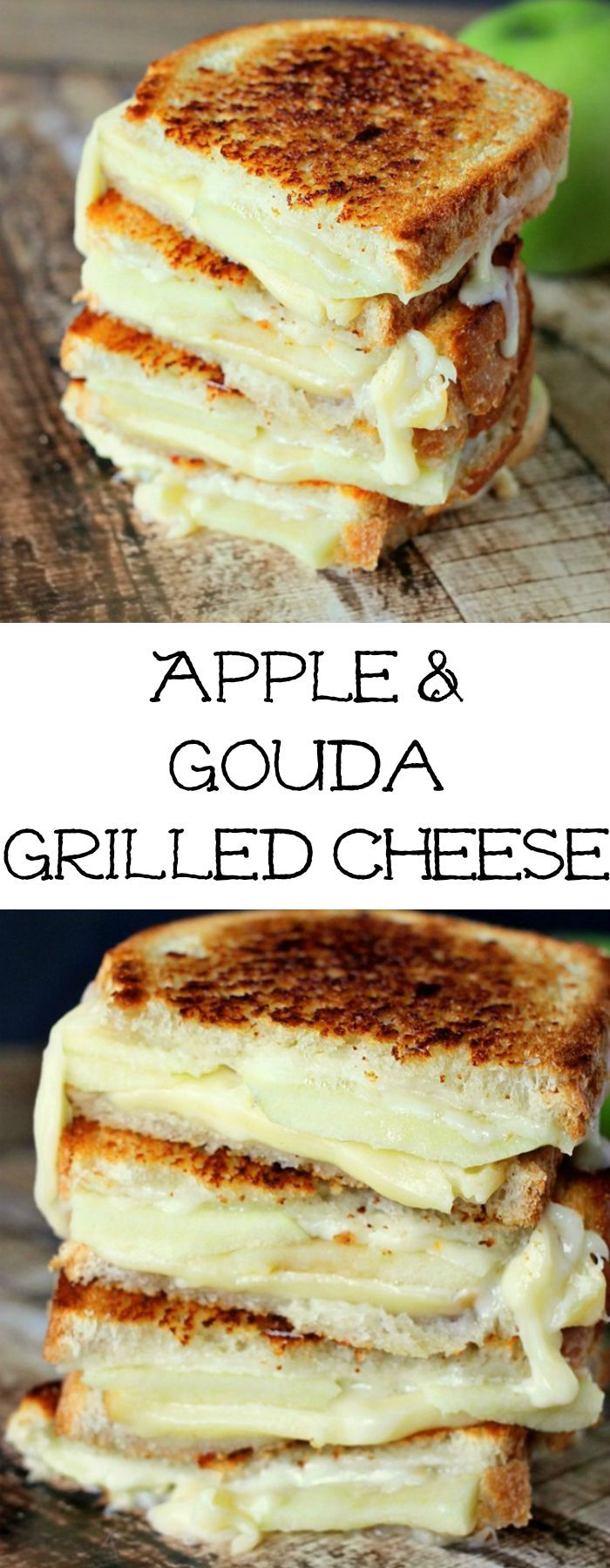 Apple & Gouda Grilled Cheese is perfect for fall and those granny smith apples! Savory and delicious!""