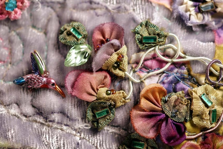 Amazing vintage ribbon work