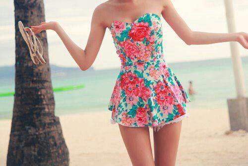 Clothes Pink Dress Vestido Ropa Rosa Rosado Flores Playa Beach
