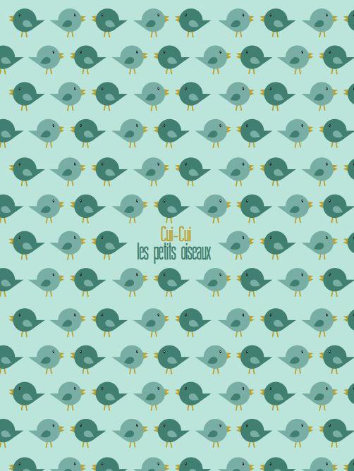 Affiche retro chambre enfant cuicui les petits oiseaux de Boum badaboum. Disponible sur www.boum-badaboum.fr