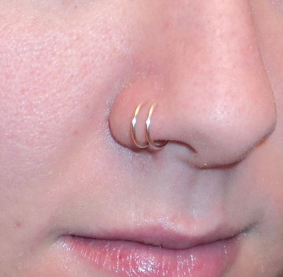 Double Nose Rings Clip on Comes in 12 colors by DazzlingAdornments, $3.00
