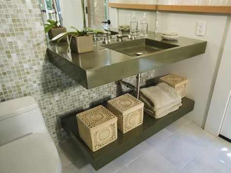 17 Best Images About Polished Concrete On Pinterest Vanities Vanity Tops And Basement Bathroom