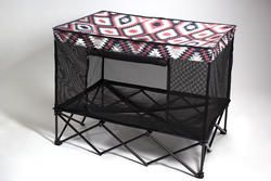 Quik Shade Large Instant Pet Kennel with Mesh Bed - Southwestern Blanket Pattern   $73.86
