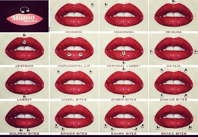 Lip piercing names.
