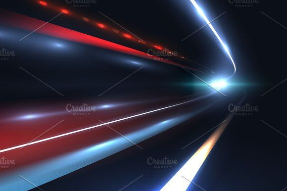 Car Speed Lines Light Trails Tragic Of Long Exposure Abstract Vector Background Light Trails Vector Background Line Design