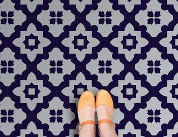 Casablanca Blue Vinyl Floor Tiles not on te high street